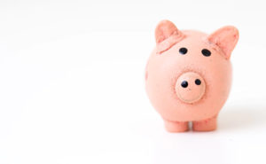 Piggy bank on a white background to represent financial planning in Danville, CA