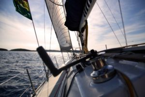 Person sailing because of effective wealth management