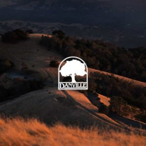 Danville logo over image of view from Mount Diablo