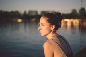 woman thinking about finances during a divorce