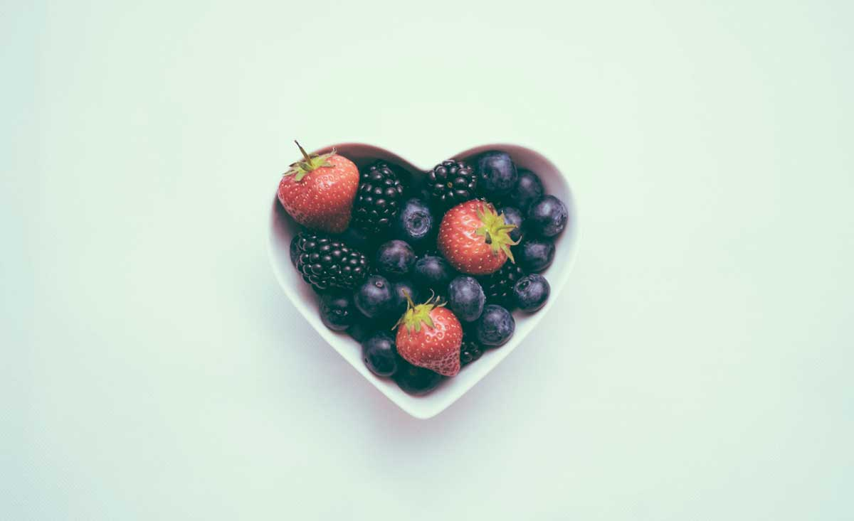 heart shaped fruit representing healthy financial planning