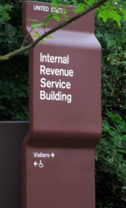 IRS sign representing tax strategy in Danville, CA