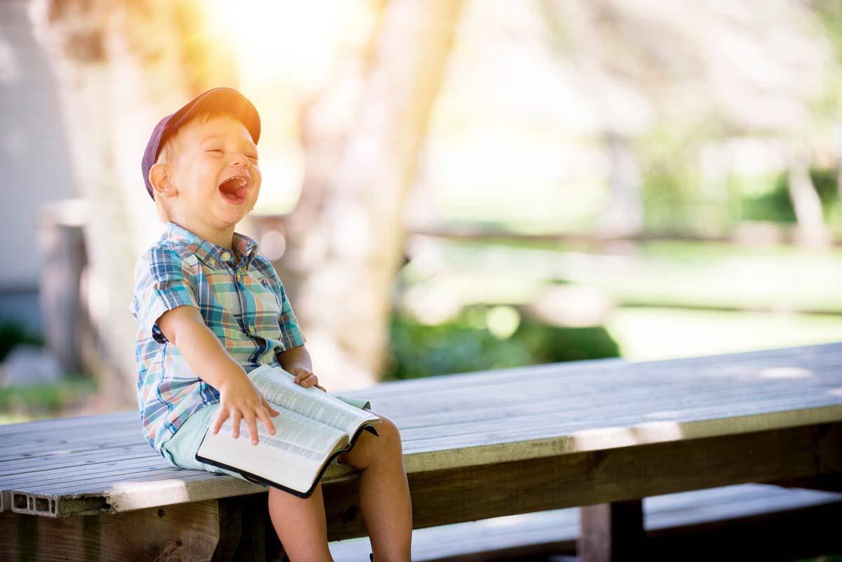 laughing autistic child